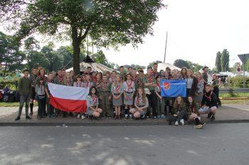 Delegacja Hufca na 50. zlocie skautów InterCamp